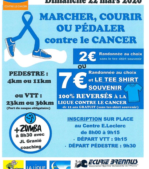 Marcher, courir ou pédaler contre le cancer