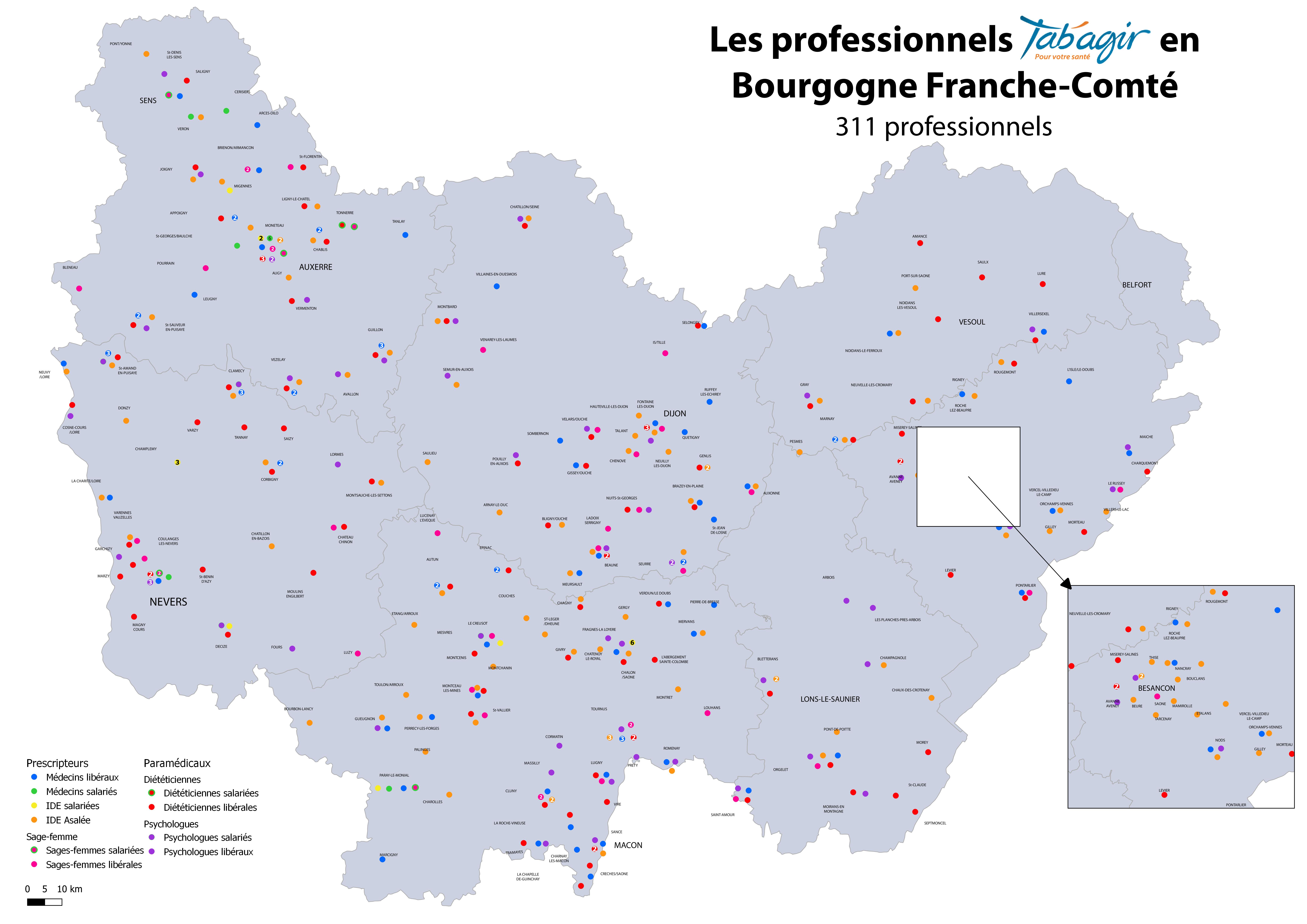 Carte des professionnels Tab'agir