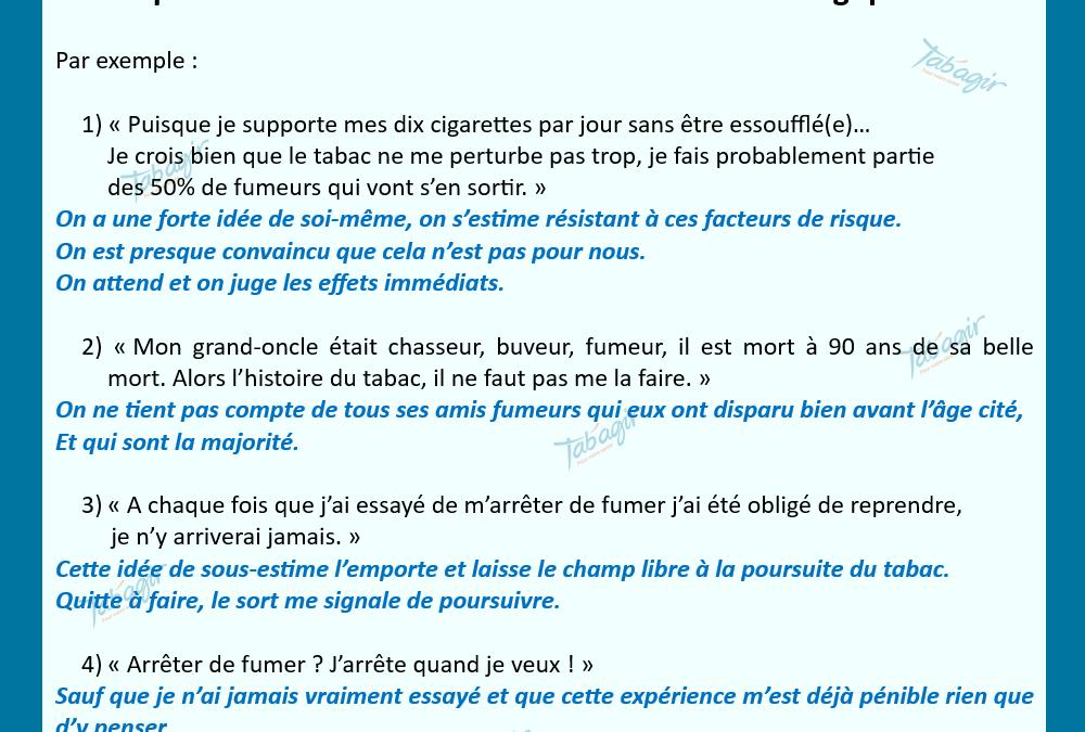 Suis-je conscient(e) des biais de raisonnement quand je tente de prendre une décision sur mon intoxication tabagique ?